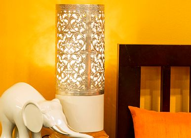 Design objects - White Desk Lamp - ARTISANS ANGKOR