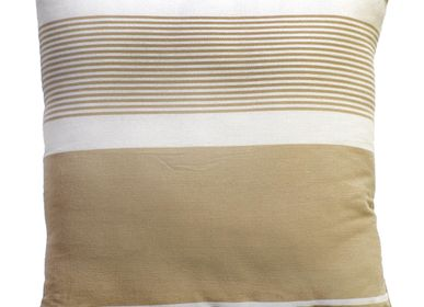 Fabric cushions - Pillow and Square cushion 40 x 40 cm and 60 x 60 cm white and beige CB3 - FOUTA FUTEE
