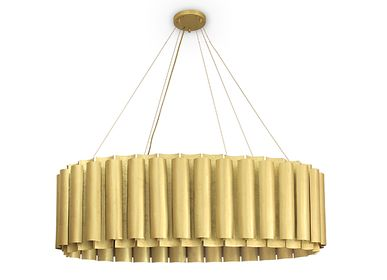 Decorative objects - Suspension lamp AURUM III - BRABBU DESIGN FORCES