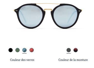Glasses - Fitzroy Matt Black Blue - KAPTEN & SON
