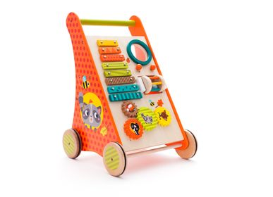 Toys - Walker trolley with activities Forest animals - EUREKAKIDS