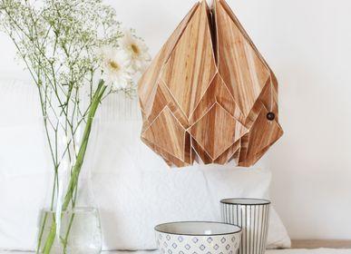 Pendant lamps - ECOWOOD - Recycled Banana Trunk Collection - TEDZUKURI ATELIER