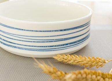 Plats/saladiers - Plat creux en porcelaine Spirale - OZECLORE