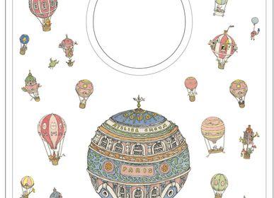 Kids accessories - Large illustrated bib - ATELIER CHOUX PARIS