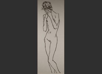 Accessoires à fixer - Plaque inspirée par une femme pudique de Egon Schiele - MARCHAND DE SABLES