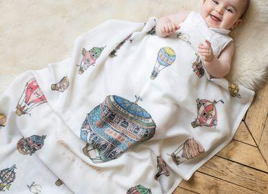 Kids accessories - Illustrated cashmere blanket - ATELIER CHOUX PARIS
