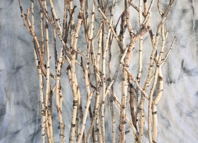 Panels - Illuminated screen in birch branches - DECO-NATURE