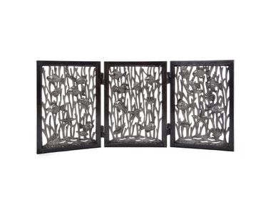 Unique pieces - SMALL FOLDING SCREEN WITH FISHES - ANNE MUCCI COLLECTION