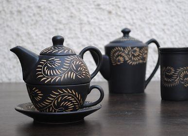 Assiettes au quotidien - Thé au henné pour un - Noir mat - ARTIZEN