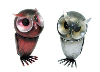 Decorative objects -  box métal owl  18x10x10 cm - COZIC