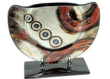 Decorative objects - glass vase 28x11x22  - COZIC