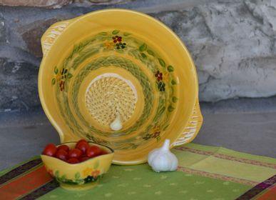Platter and bowls - salad bowl garlic scrathing dish - SOULEO È PROVENCE