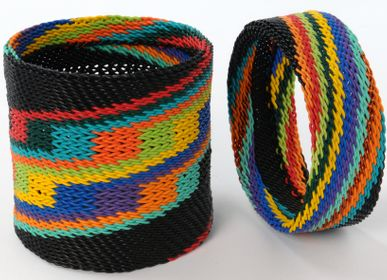 "Jewelry - WRISTBAND ""WEAVING"" IN TELEPHONE WIRE - MAHATSARA"