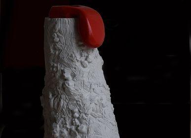 Vases - langue rouge - MICHEL VERDIER