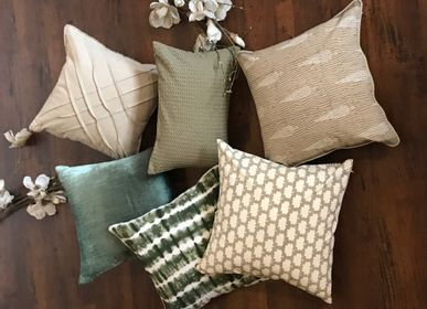 Fabric cushions - Forest Crimp Cushion Cover - THE INDIAN PICK