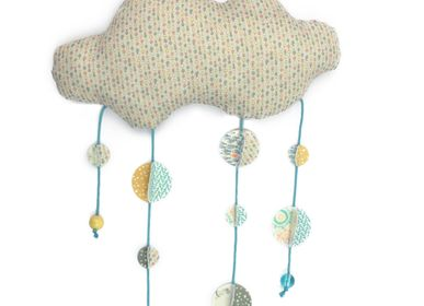 Decorative items - The mobile cloud and its small garland - LA DROGUERIE IDÉES DE SAISON