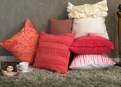Fabric cushions - Fringed Floret Cushion Cover - THE INDIAN PICK