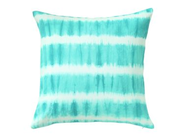 Fabric cushions - Ribboned Jade Cushion Cover - THE INDIAN PICK