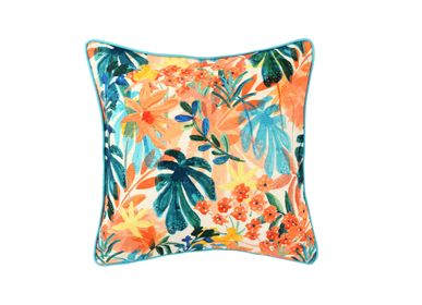 Fabric cushions - The Pastel Palms Cushion Cover - THE INDIAN PICK