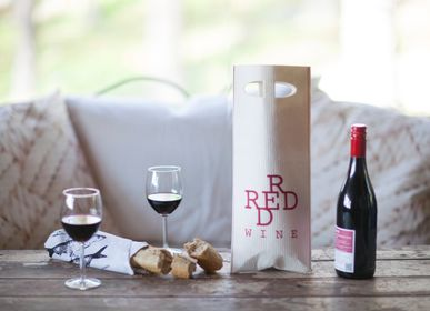 Personalizable objects - Wine bag and dishcloth together - MORE JOY