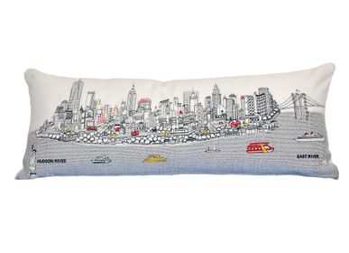 Coussins textile - COUSSIN SKYLINE NEW YORK - BEYOND CUSHIONS CORPORATION