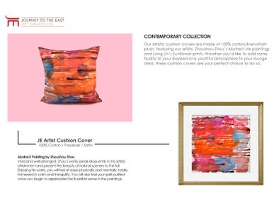 Coussins textile - JE Artist Cushion Cover / Coussin 100% Cotton  - JOURNEY TO THE EAST ART GALLERY