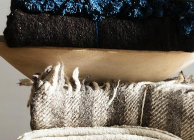 Rugs - Wild wool, cotton & fiber - IXCASALA