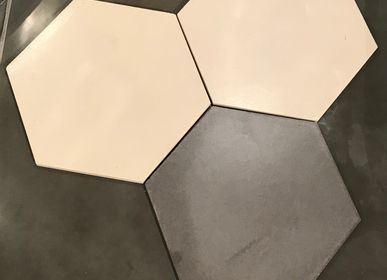 Cement tiles - Sermideco tiles with hexagone shape - ROUVIERE COLLECTION