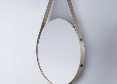 Bathroom mirrors - LEATHER MIRRORS & LIGHTING - RABITTI1969 BY GIOBAGNARA