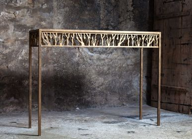 Consoles - Console Corail Or - ADRIANDUCERF - MOBILIER
