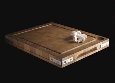 Kitchens furniture - Hornbeam end grain wood chopping board - CHABRET
