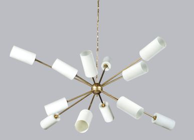 Ceiling lights - CHANDELIER ATOMIUM GM 12 LIGHTS - MIRAL DECO