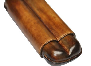 Leather goods - Collection of cigar cases. - ELIE BLEU