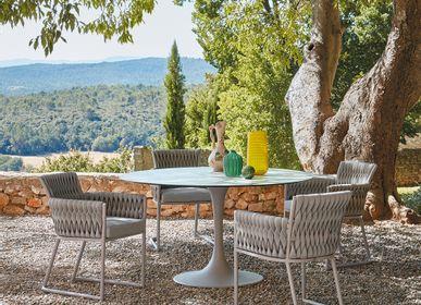 Tables Salle à Manger - Table repas KOROL diam.120 cm plateau verre - SIFAS
