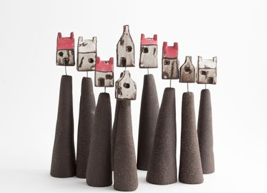 Sculptures / statuettes / miniatures - Maison dans les nuages - BÉRANGÈRE CÉRAMIQUES