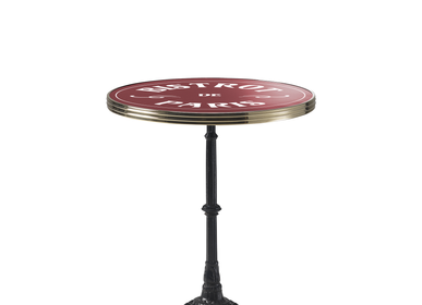 "Tables for hotels - ARDAMEZ • TRADITION Enamel bistro table / Black / Brass Model ""Bistrot de Paris"" - ARDAMEZ"