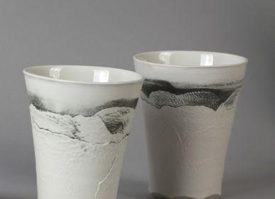 """Céramique - Vaisselle porcelaine """" Aléasucs """" - ATELIER ENTRE TERRES"""