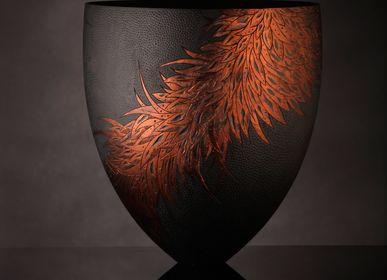 Pièces uniques - Corvus Nero Collection - Tissé Noir - SALLY BURNETT DESIGNS IN WOOD