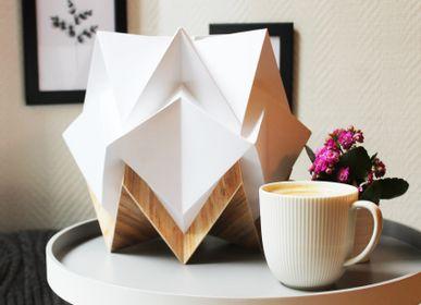Table lamps - Table lamp HIKARI - ECO WOOD / BICOLEUR / UNI - TEDZUKURI ATELIER