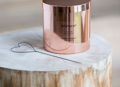 Candles - THE « AMBRE EXQUIS » SCENTED CANDLE, IN SOLID COPPER - HYPSOÉ - MADE IN PARIS
