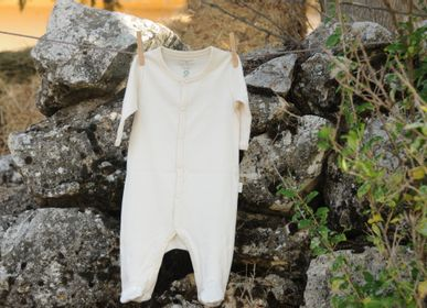 Homewear - Organic Cotton Baby Footed Playsuit - NATURABORN