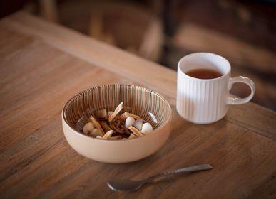 Art glass - tsubomi bowl L - HYAKUSHIKI