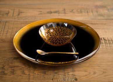 Art glass - Tsukinowa plate L - HYAKUSHIKI