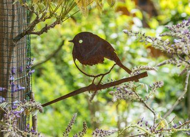 Objets design - Décoration extérieur Metalbird Rouge-gorge - METALBIRD