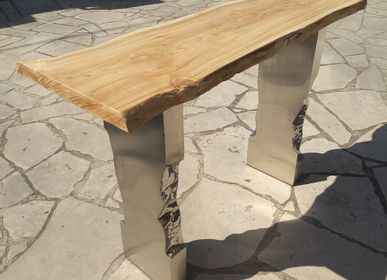 Console table - Metal & wood console - WILD-HERITAGE.COM