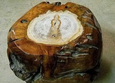 Assises pour bureau - Tabouret bois, racine - WILD-HERITAGE.COM