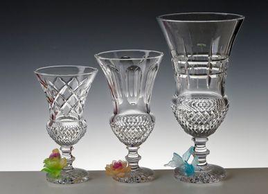 Vases - VASE FOOT MEDICIS FLOWER - CRISTAL DE PARIS