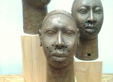 Sculpture - Tête en bronze Benin - FERNANDO OTERO