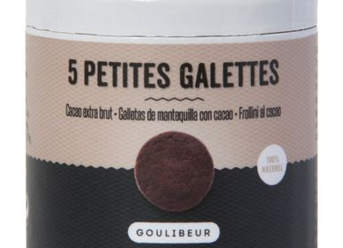 Cookies - 5 CACAO ROUND SHORTBREADS - GOULIBEUR