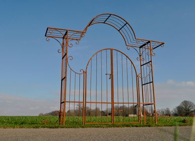 Garden accessories - Iron arch Chantilly with door 1,20m - HERMES TRADING